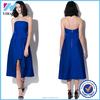 Women's Sexy dress Slim Bra wrapped dark electric blue zipper back casual dress