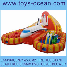 Inflatable super fire arrow playground /Inflatable rocket slide game /inflatable playground rocket