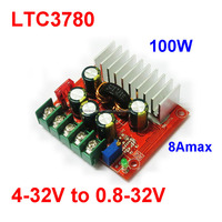 100W 8A DC to DC Automatically step up/ step down buck/boost coverter module Car/solar/wind Regulators LTC3780 high efficiency