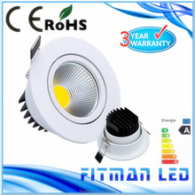 2015 New Products ADJUSTABLE warm white Dimmable 5w COB LED Downlight ,LED Down light