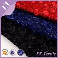 velvet fabric with satin cloth making the flowers and 3mm beads pieces embroidery design on surface