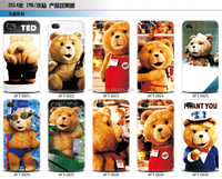 Water paste Teddy Bear Soft TPU Case for iPhone 6 6 plus