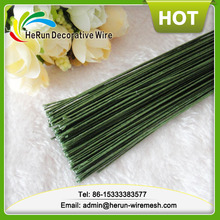 HR Artificial flowers dark green paper covered stem wire