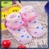 Directly factory price kids socks manufacturer cute fancy non skid slipper socks for kids pink young girls tube socks