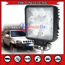 Factory Sales 4 INCH 24W LED Work Light Epistar Offroad Driving Lamp 4WD 4x4 ATV 9-32V SPOT FLOOD BEAM LED Fog Light