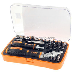JAKEMY JM-6102 Multifunction Rachet Socket Screwdriver with Sockets + Bits