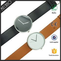 New design unique leather strap watches custom made high quality waterproof wrist watch