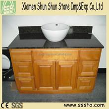 Antique Black Granite Bathroom Vanity with Wood Cabinet