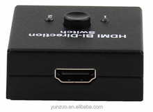 2 Inputs 1 output or 1 input 2 outputs bi-directional mini hdmi switch box