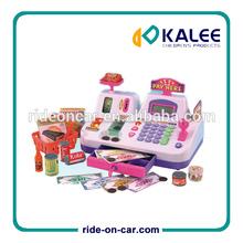 Los niños caja registradora multi- color conjunto de caja de dinero en efectivo registro de juguete