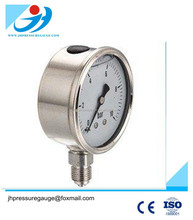 Liquid Filled Stainless Steel Case Wika Bourdon Tube Pressure Gauge