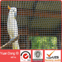 Black vinyl Aviary cage wire mesh / bird cage wire mesh 4ft*4ft*6ft