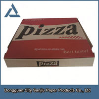 E flute Pizza packing box/B flute strong thick cardboard cheap customized eco-friendly paper pizza box