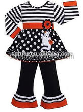 Persnickety super fashion wholesale toddler sets stripe polka dots tunic ruffle pant set toddler girls clothing set by sue lucky