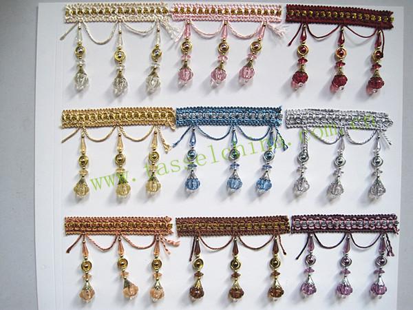 nuevo diseo de compradores de oro fringe adornos para cortinas