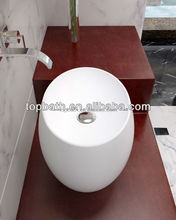 Popular high quality solid surface bathroom cast stone countertop sinks C7