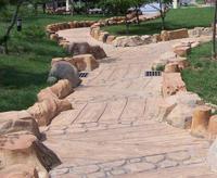 2014 SJ AR008 Factory artificial rock waterfall fiberglass rock for park road artificial landscape stone