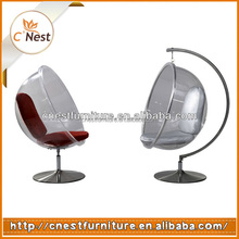 Fashionable ball chair/Hanging swing bubble chair/ acrylic swing chair