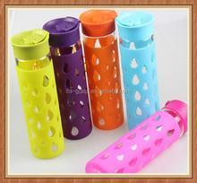 New design 550ml sport packaged drinking custom glass water bottle