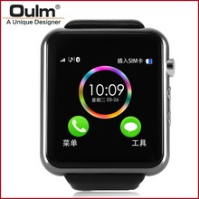2015 oulm hot smart watch, multi-funtion buletooth android watch, cheap mobile phone watch