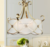 Copper brass decoration pendant lamp, white chandeliers