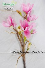 high simulation artificial Magnolia flowers with two colors