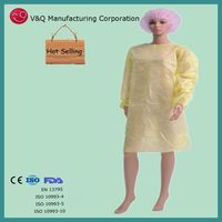 Operating room disposable isolation gown medical instrument