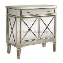 modern mirrored furniture bedroom nightstands/door cabinet