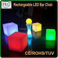 16 colors inflatable party chair new fashion led cube chair led indoor and outdoor light cube led indoor and outdoor light cube