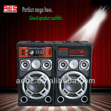 Night club powered stereo tower speaker best dj speakers with disco light