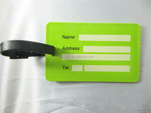 light green pvc luggage tags for travel suitcase bag