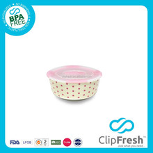 Clip Fresh Ceramic BPA Free Food Container with Push Button 290ml