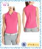 custom made women slim plain dry fit sleeveless polo shirt