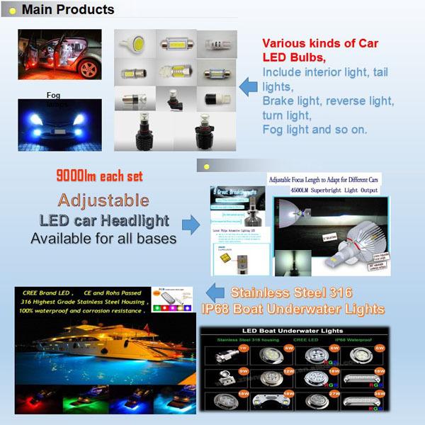 3 Company information led car headlight marine light car led boat underwater light-3