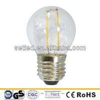 230V 2W 360degree Glass High CRI Dual G45 E27 Filament COB LED