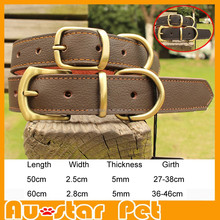 High Quality Genuine Leather Pet Collars, Pet Dog Collars