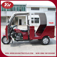 Hot sale in India new design fashion red tricycles taxi for sale