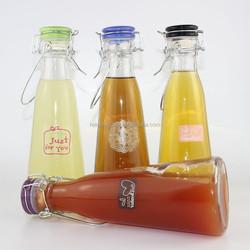 glass cruet oil bottle with swing top cap