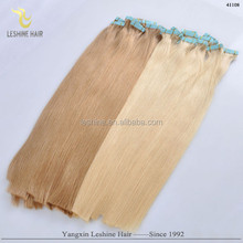 Most Fashion Italian Glue Cheap Remy Virgin double drawn skin weft tape hair extension
