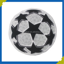 football pattern 3D flocking world cup patch for soccer wear