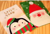 1pack=800pcs Happy Christmas series 2styles14x20cm packaging bags