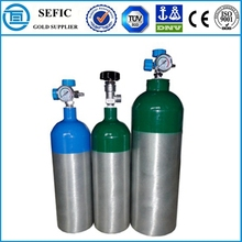 Export To Europe Aluminum Oxygen Gas Filling Empty Cylinder Medical Breathing Equipment