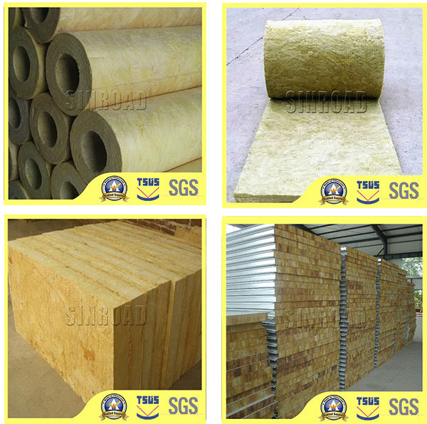 Fireproof Insulation Rock Wool Sandwich Panel Price Is