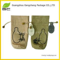 Popular design cheap drawstring mini jute bags wholesale