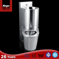 American style Stainless Steel one piece Prison toilet