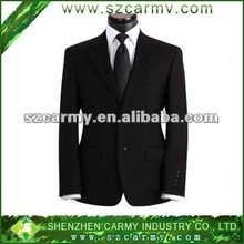 Hot sell 2012 New design black men's office bussiness suits/wedding suits/Korean look new style handsome men suits