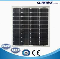 Monocrystalline solar panel with high effiency gs 50 watt solar panel