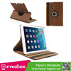 Fast Shipping Brown for iPad Air 360 Swivel Stand Cloth Leather Case Accessory w/ Stylus Pen