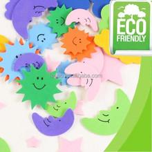 EVA stickers for kids/EVA sun+star+moon