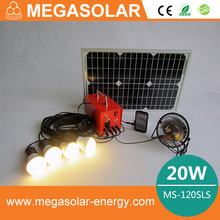 20w Multifunctional solar power lighting system with radio function